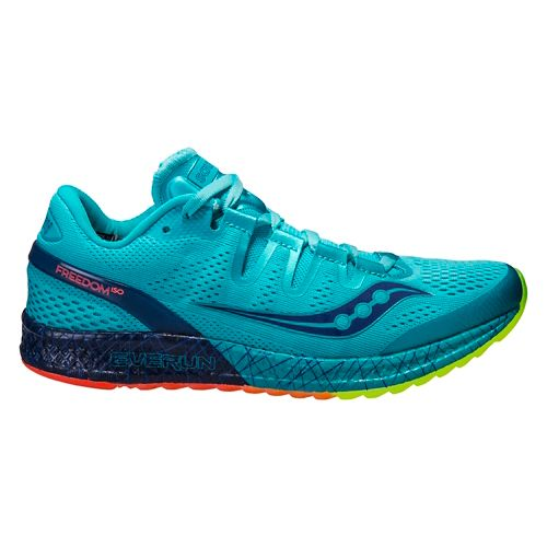 Womens Saucony Freedom ISO Running Shoe - Blue 7.5
