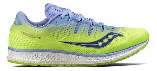 Womens Saucony Freedom ISO Running Shoe - Purple/Citron 11.5
