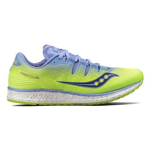 Womens Saucony Freedom ISO Running Shoe - Purple/Citron 7
