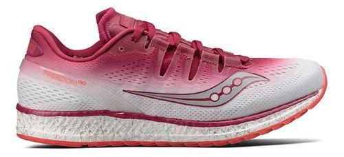 Womens Saucony Freedom ISO Running Shoe - Berry/White 10.5