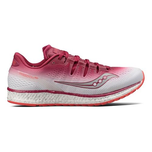Womens Saucony Freedom ISO Running Shoe - Berry/White 9.5