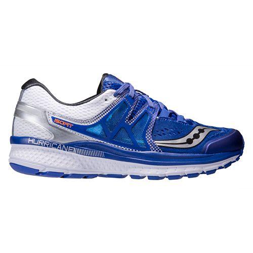 Mens Saucony Hurricane ISO 3 Running Shoe - Blue/White 12.5