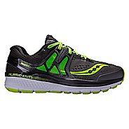 Mens Saucony Hurricane ISO 3 Running Shoe - Grey/Citron 12