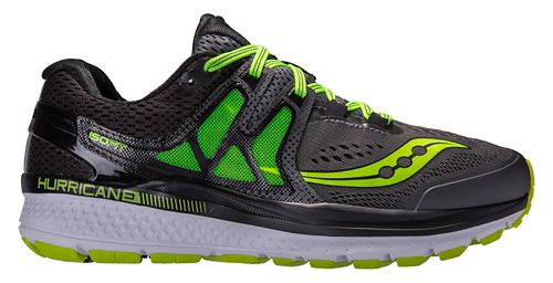 Mens Saucony Hurricane ISO 3 Running Shoe - Grey/Citron 11.5
