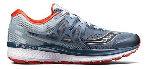Mens Saucony Hurricane ISO 3 Running Shoe - Blue/White 7.5