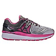 Womens Saucony Hurricane ISO 3 Running Shoe - Grey/Pink 8.5