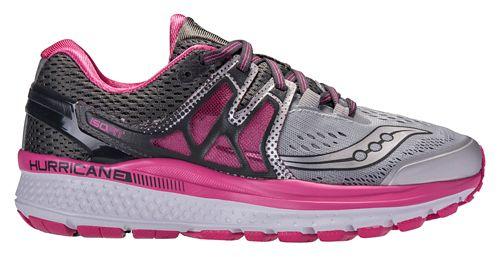Womens Saucony Hurricane ISO 3 Running Shoe - Grey/Pink 8.5