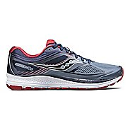 Mens Saucony Guide 10 Running Shoe - Navy/Red 10