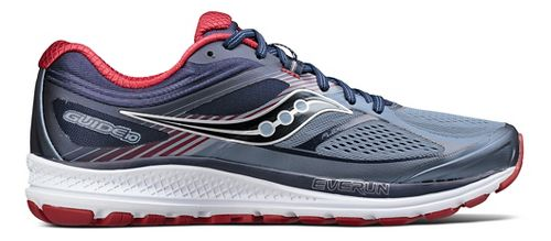 Mens Saucony Guide 10 Running Shoe - Navy/Red 12.5