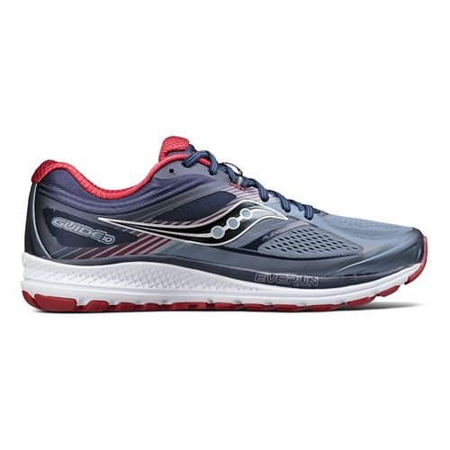 Mens Saucony Guide 10 Running Shoe - Navy/Red 8