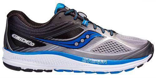 Mens Saucony Guide 10 Running Shoe - Grey/Black 12.5