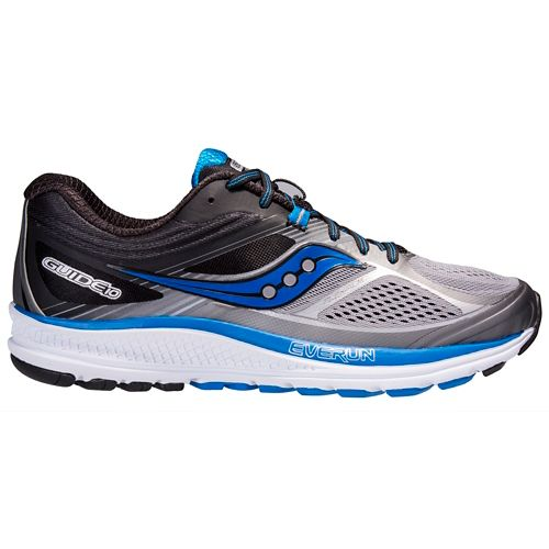 Mens Saucony Guide 10 Running Shoe - Grey/Black 12