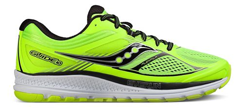 Mens Saucony Guide 10 Running Shoe - Lime/Black/Citron 10.5