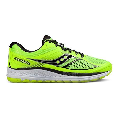Mens Saucony Guide 10 Running Shoe - Lime/Black/Citron 12