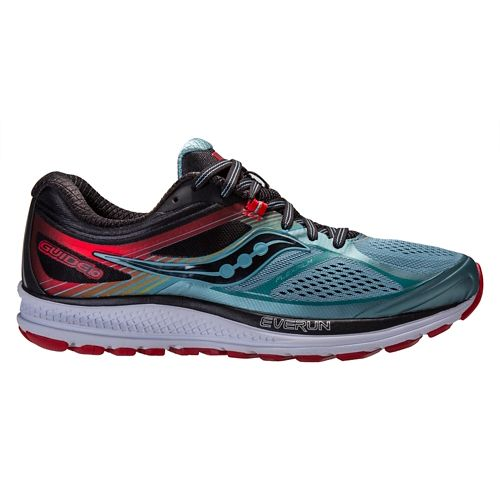 Mens Saucony Guide 10 Running Shoe - Blue/Black 12.5