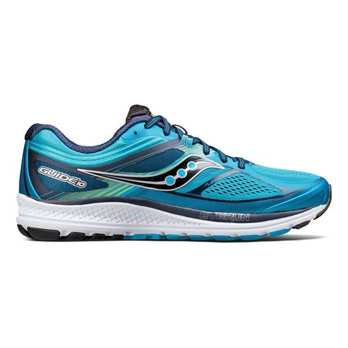 Mens Saucony Guide 10 Running Shoe - Blue/Navy 10.5