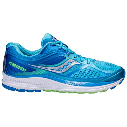 Womens Saucony Guide 10 Running Shoe - Blue 8