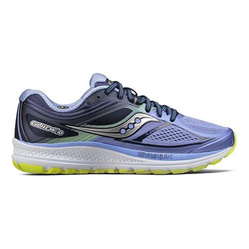 Womens Saucony Guide 10 Running Shoe - Purple/Navy 7.5