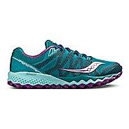 Womens Saucony Peregrine 7 Trail Running Shoe - Grey/Berry 7