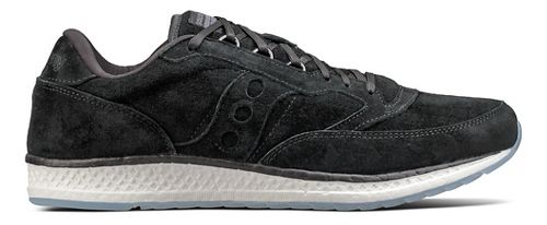 Mens Saucony Freedom Runner Suede Casual Shoe - Black 4.5