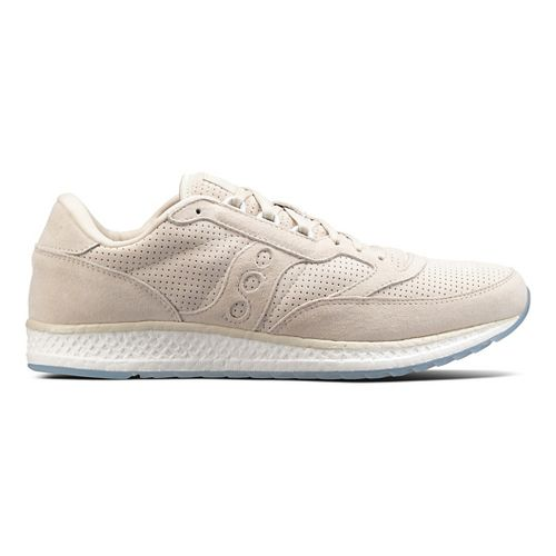 Mens Saucony Freedom Runner Suede Casual Shoe - Tan 5.5
