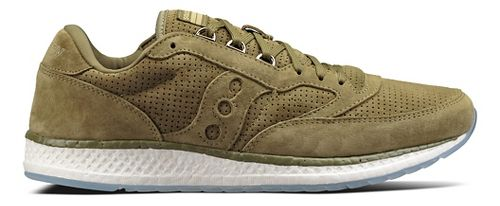Mens Saucony Freedom Runner Suede Casual Shoe - Green 11.5
