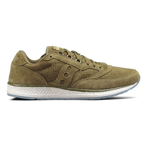 Mens Saucony Freedom Runner Suede Casual Shoe - Green 10.5