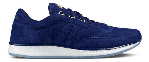 Mens Saucony Freedom Runner Suede Casual Shoe - Blue 9