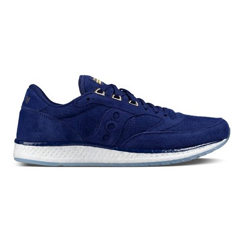 Mens Saucony Freedom Runner Suede Casual Shoe - Blue 8.5