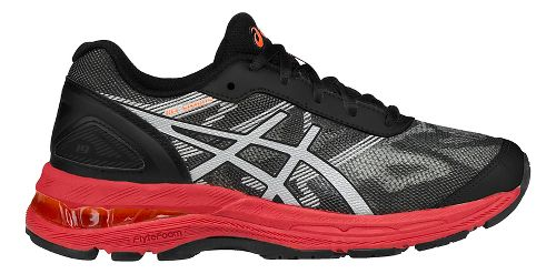 Kids ASICS GEL-Nimbus 19 Running Shoe - Black/Red 5Y