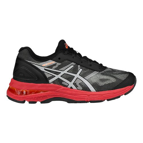 Kids ASICS GEL-Nimbus 19 Running Shoe - Black/Red 3.5Y