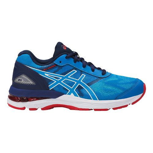 Kids ASICS GEL-Nimbus 19 Running Shoe - Blue/White 4.5Y