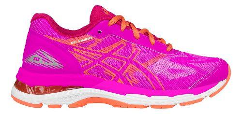 Kids ASICS GEL-Nimbus 19 Running Shoe - Pink/Coral 4.5Y