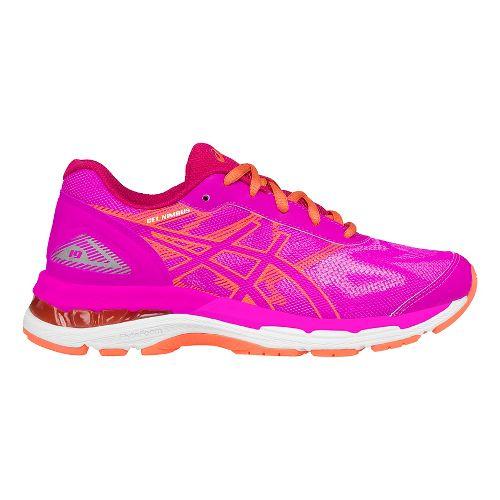 Kids ASICS GEL-Nimbus 19 Running Shoe - Pink/Coral 5.5Y