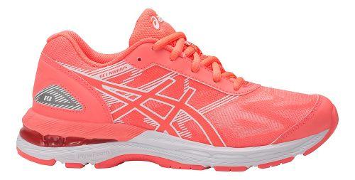 Kids ASICS GEL-Nimbus 19 Running Shoe - Coral/White 6Y