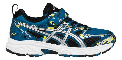 Kids ASICS Pre-Turbo Running Shoe - Blue/Silver 11C