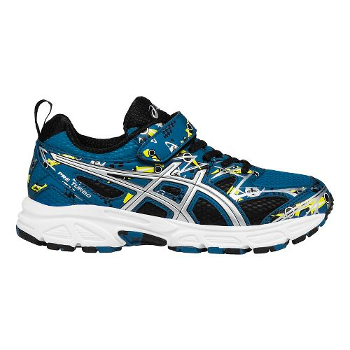 Kids ASICS Pre-Turbo Running Shoe - Blue/Silver 1Y