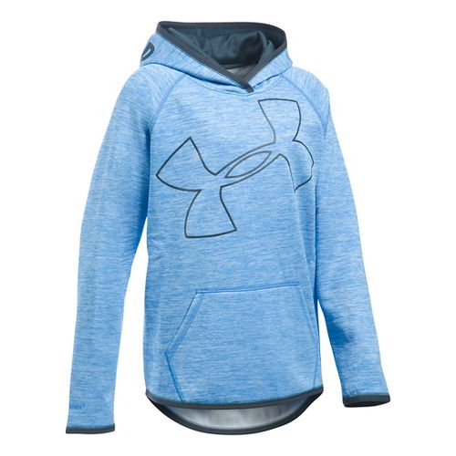 Under Armour Girls Armour Fleece Novelty Highlight Half-Zips & Hoodies Technical Tops - ...