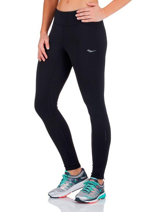 Womens Saucony Siberius Tights & Leggings Pants - Black L