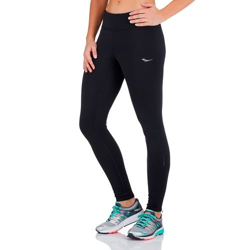 Womens Saucony Siberius Tights & Leggings Pants - Black M