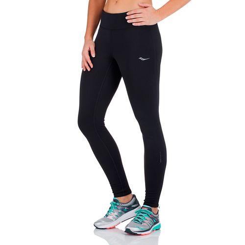 Womens Saucony Siberius Tights & Leggings Pants - Black XS