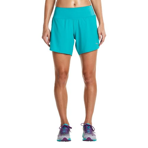 Womens Saucony Run Lux Unlined Shorts - Barbados XS