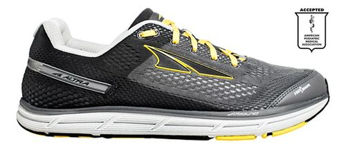 Mens Altra Instinct 4.0 Running Shoe - Grey/Yellow 7