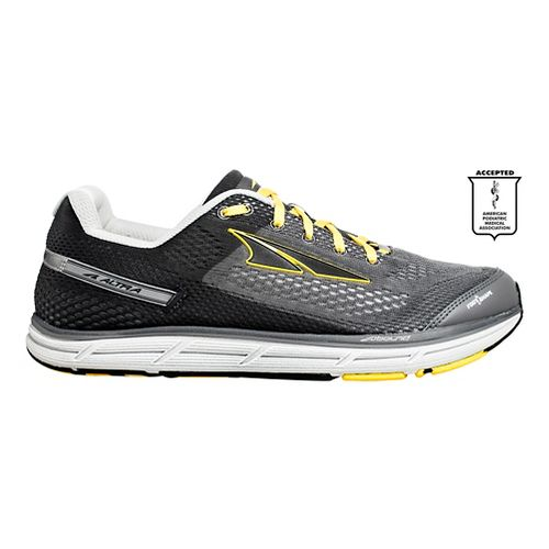 Mens Altra Instinct 4.0 Running Shoe - Grey/Yellow 14