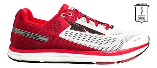 Mens Altra Instinct 4.0 Running Shoe - White/Red 9