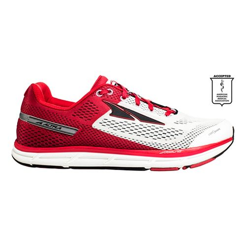 Mens Altra Instinct 4.0 Running Shoe - White/Red 11.5