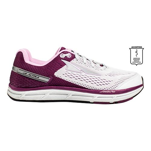 Womens Altra Intuition 4.0 Running Shoe - Grey/Purple 10.5