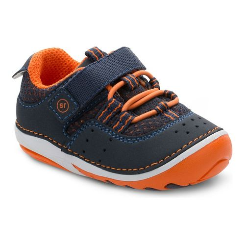 Stride Rite Boys SM Amos Casual Shoe - Navy/Orange 3.5C