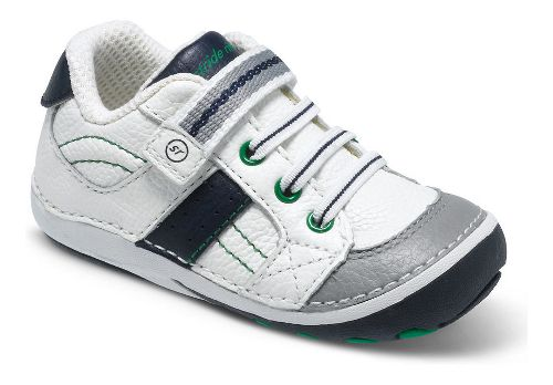 Kids Stride Rite SRT SM Artie Casual Shoe - White/Navy 5C