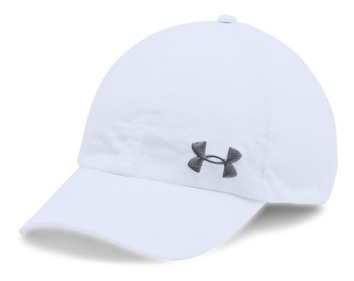 Womens Under Armour Armour Washed Cap Headwear - White